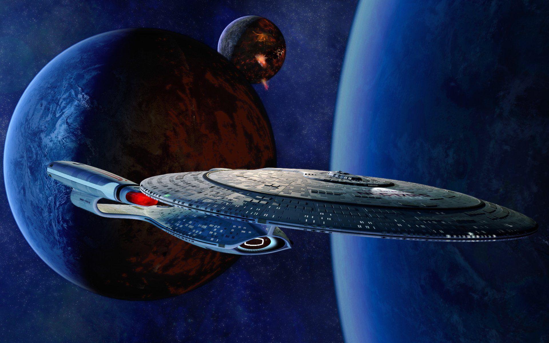 Programa De TV Star Trek: The Next Generation  Ficção Científica Filme Star Trek Enterprise (Star Trek) Ship Planet Stars Escuridão Espaço Papel de Parede