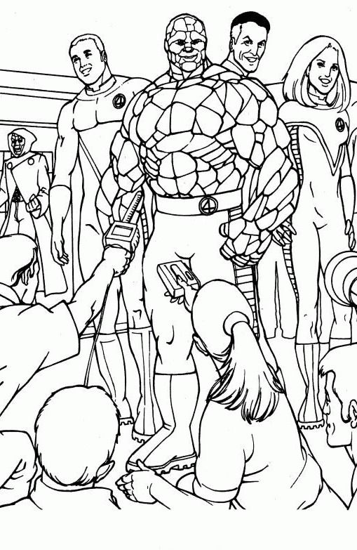 fantastic four coloring pages # 0