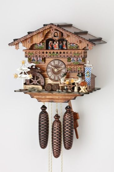 Cuckoo Clock 8 Day Movement Chalet Style 32cm By Hekas 3731 8 Ex