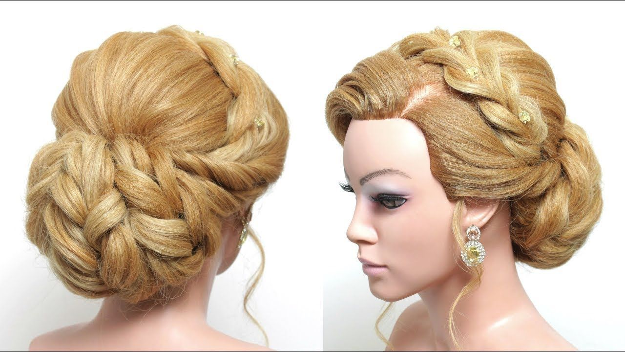 wedding updo. bridal hairstyle for long hair tutorial step