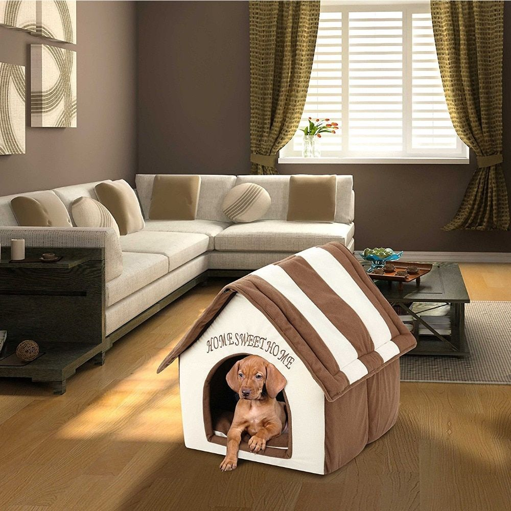 Plush Pet Dog House Cat Bed Pet Supplies Кровати для