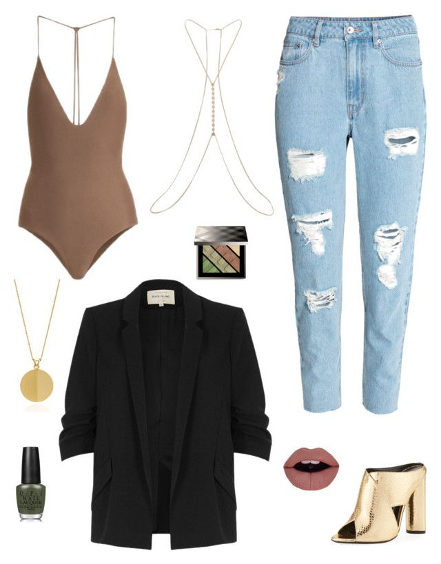 Body: Casual Outfit by tatianabraolis on Polyvore featuring polyvore, fashion, style, River Island, H&M, Jade Swim, Tom Ford, Rachel Jackson, Miss Selfridge, Burberry, OPI and clothing