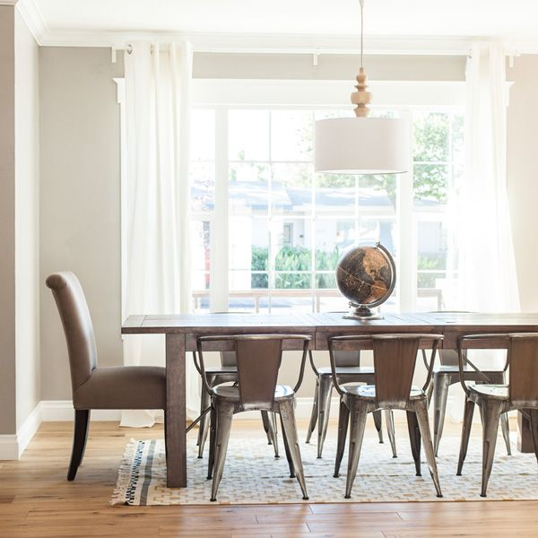 Turning Pendant Light From West Elm In A Dining Room By