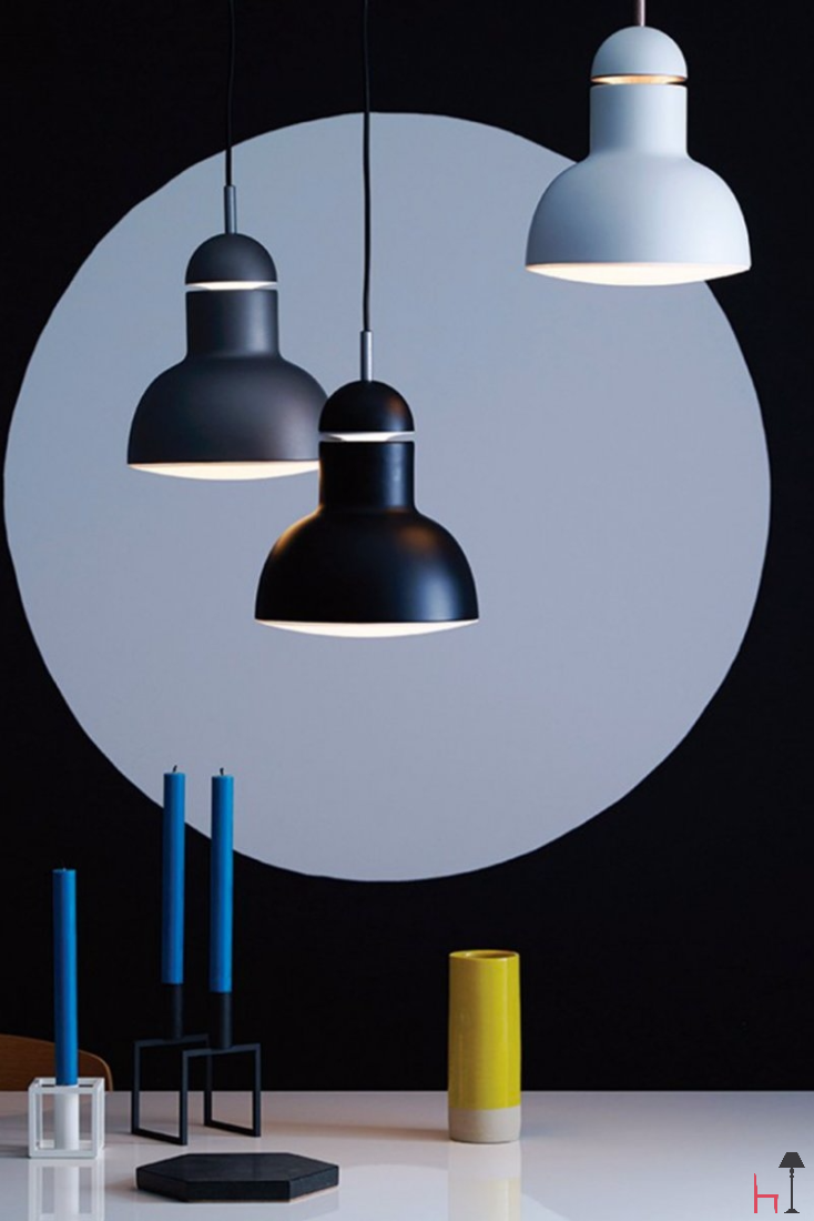 With clean simple lines and distinctive geometric form, the stylish Type 75™ Maxi pendant will blend into a variety of interior spaces.