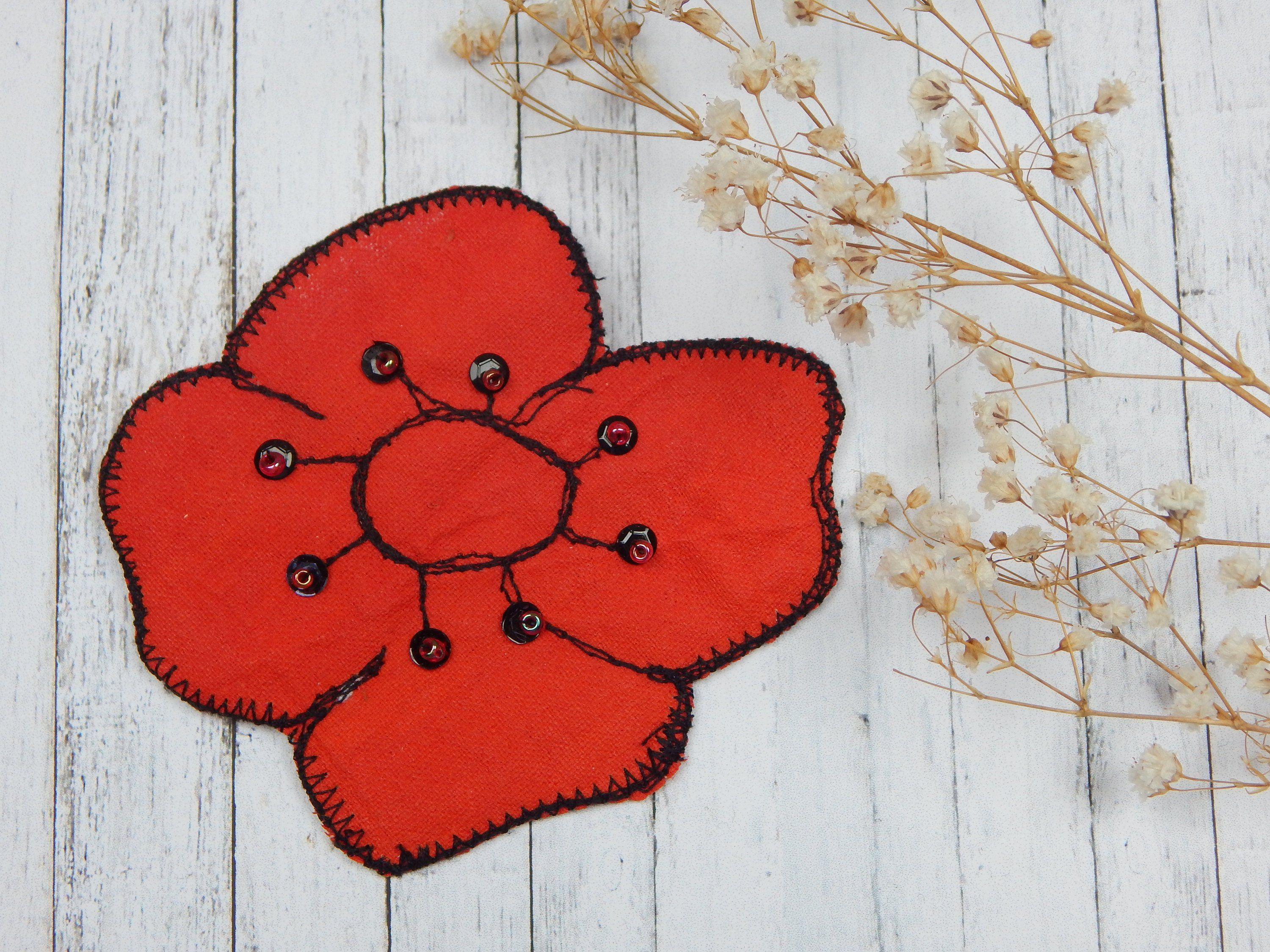 Brooches for Women Red Poppy Pin Poppy pins, Red