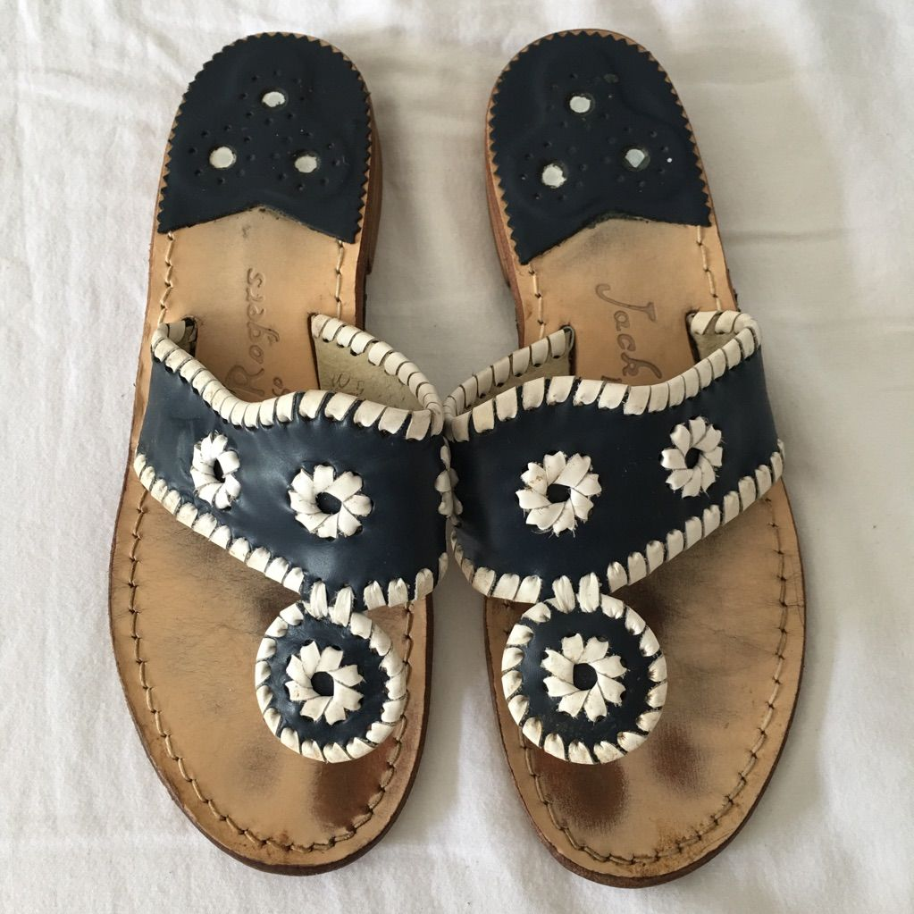 Jack Rogers Navy Blue Sandals size 5 in