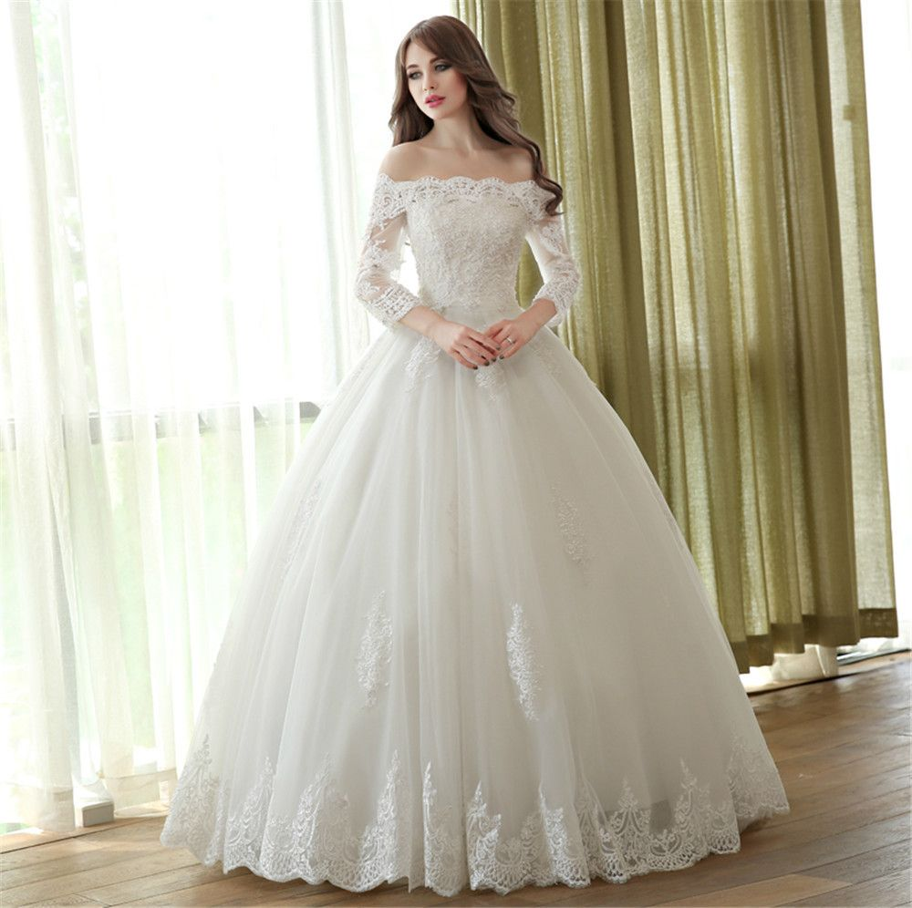 wedding lace ball gown