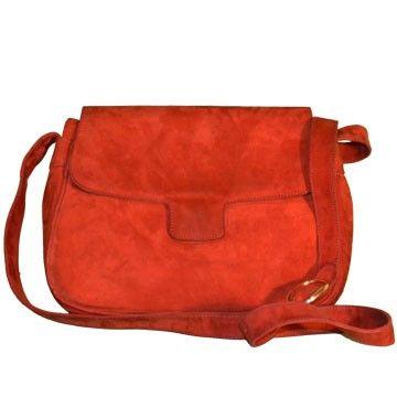 Bolso de ante en color caldera de Farrutx en lujocheap.com