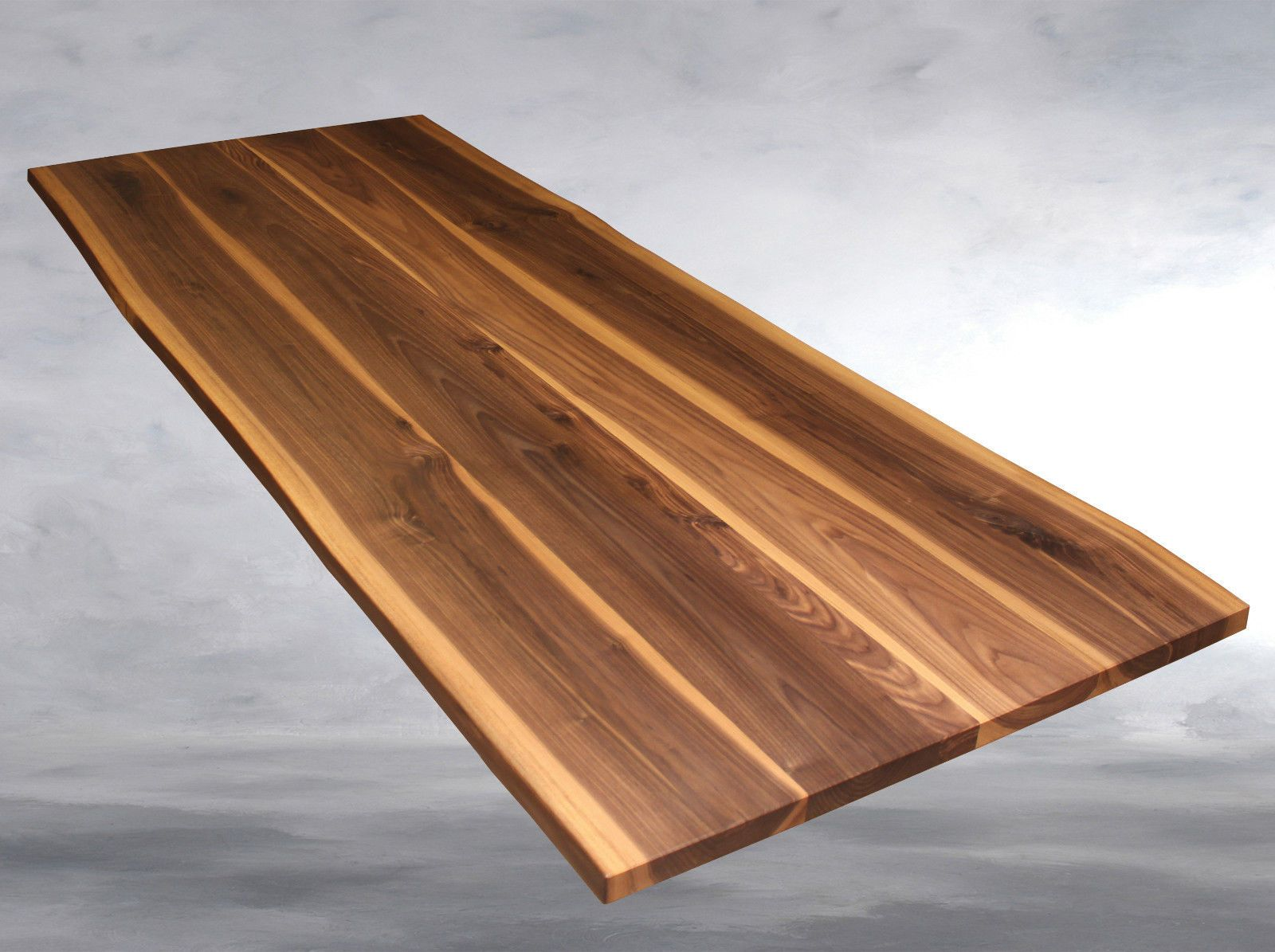 Tischplatte nussbaum massiv esstisch baumkante ge lt for Massivholz tischplatte
