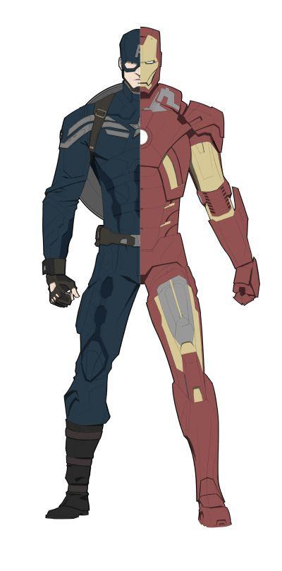 Civil War By Rgromek Superhero Iron Man Captain America Civil War