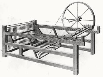 1764 Spinning Jenny For Cotton The Spinning Jenny Is A Multi