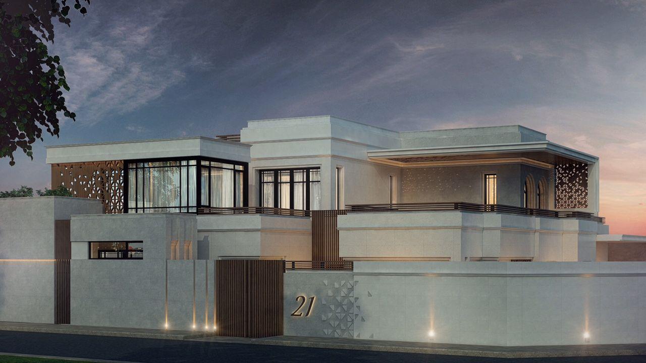Private villa 800 m kuwait sarah sadeq architects courtyard house plans facade house building