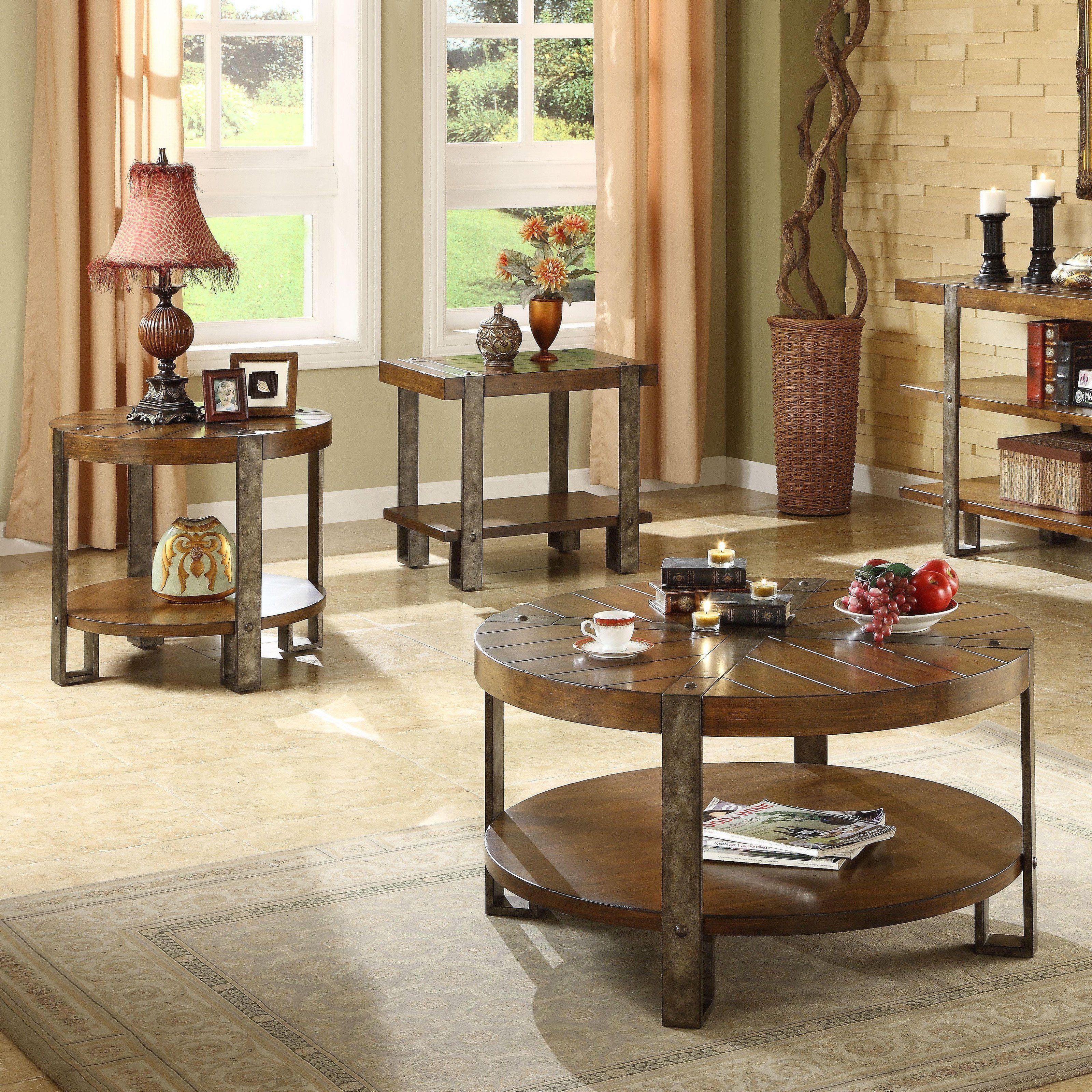 Best Riverside Sierra Round 3 Piece Coffee Table Set Rvs1843 400 x 300