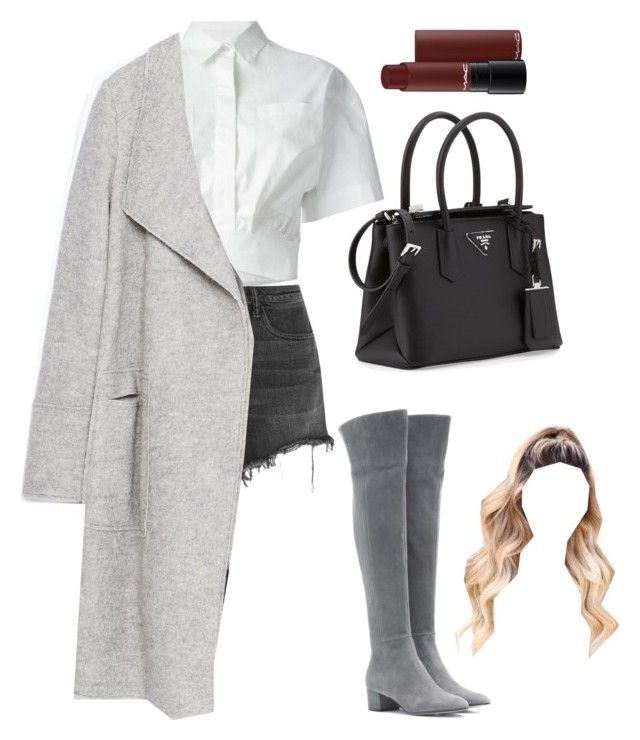 """Sans titre #1341"" by frenchystyle ❤ liked on Polyvore featuring MSGM, Gianvito Rossi, Alexander Wang, Zara and Prada"