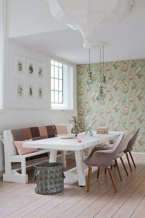 Large dining area - Fabulous Feminine Scandinvian Style In A Remodelled Church