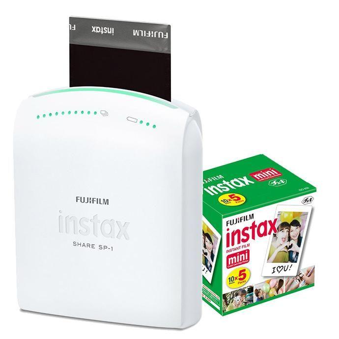 Fujifilm Instax Share Sp 1 Smartphone Printer White W 5 Pack 50 Prints Fujifilm Instax Instax Instax Share