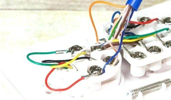 phone rj45 wall jack wiring diagram  wall jack rj45
