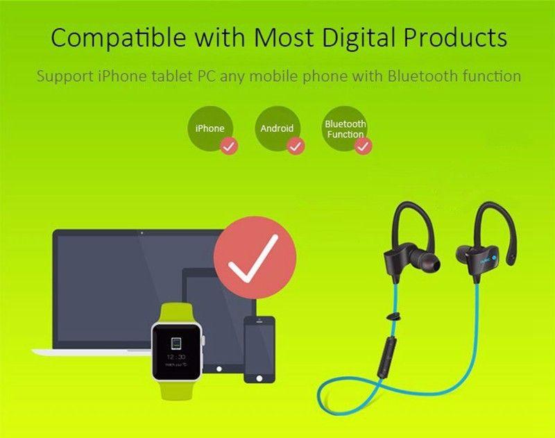 Sports InEar Wireless Earphone Stereo Earbuds Headset