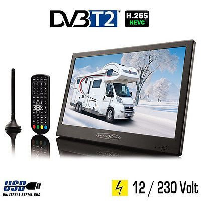 Cool Reflexion LEDTHD Portabler LED TV Fernseher DVB T Volt
