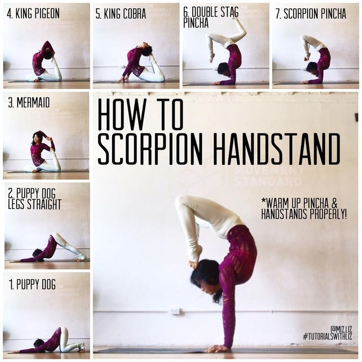 Photo of HOW TO SCORPION HANDSTAND✨ . Poses to warm your scorpion handstand ❤️ Thin… – Fitness – Yoga fitness – Erbaa Blog
