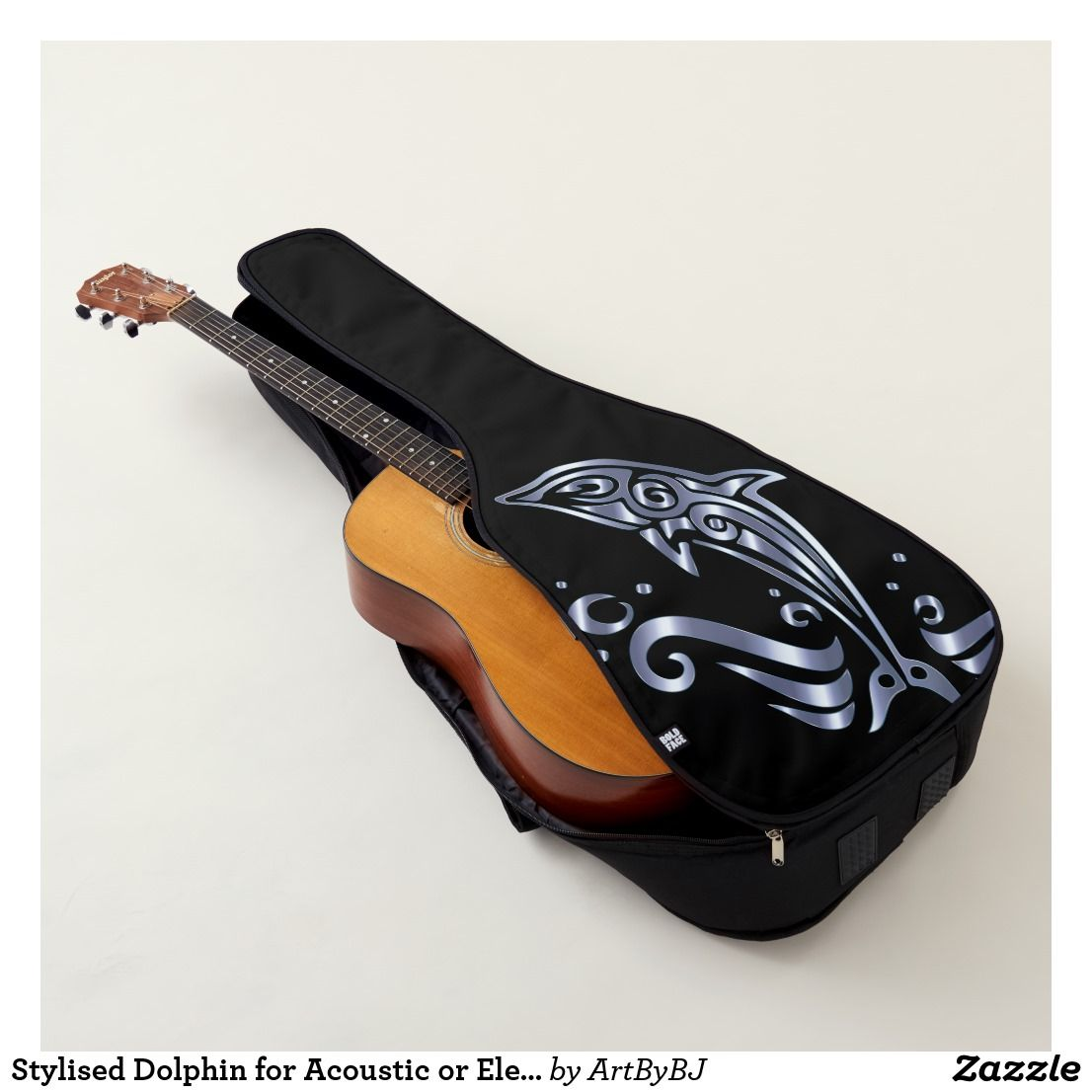 Stylised Dolphin For Acoustic Or Electric Guitar Case Zazzle Com Guitar Case Electric Guitar Case Guitar