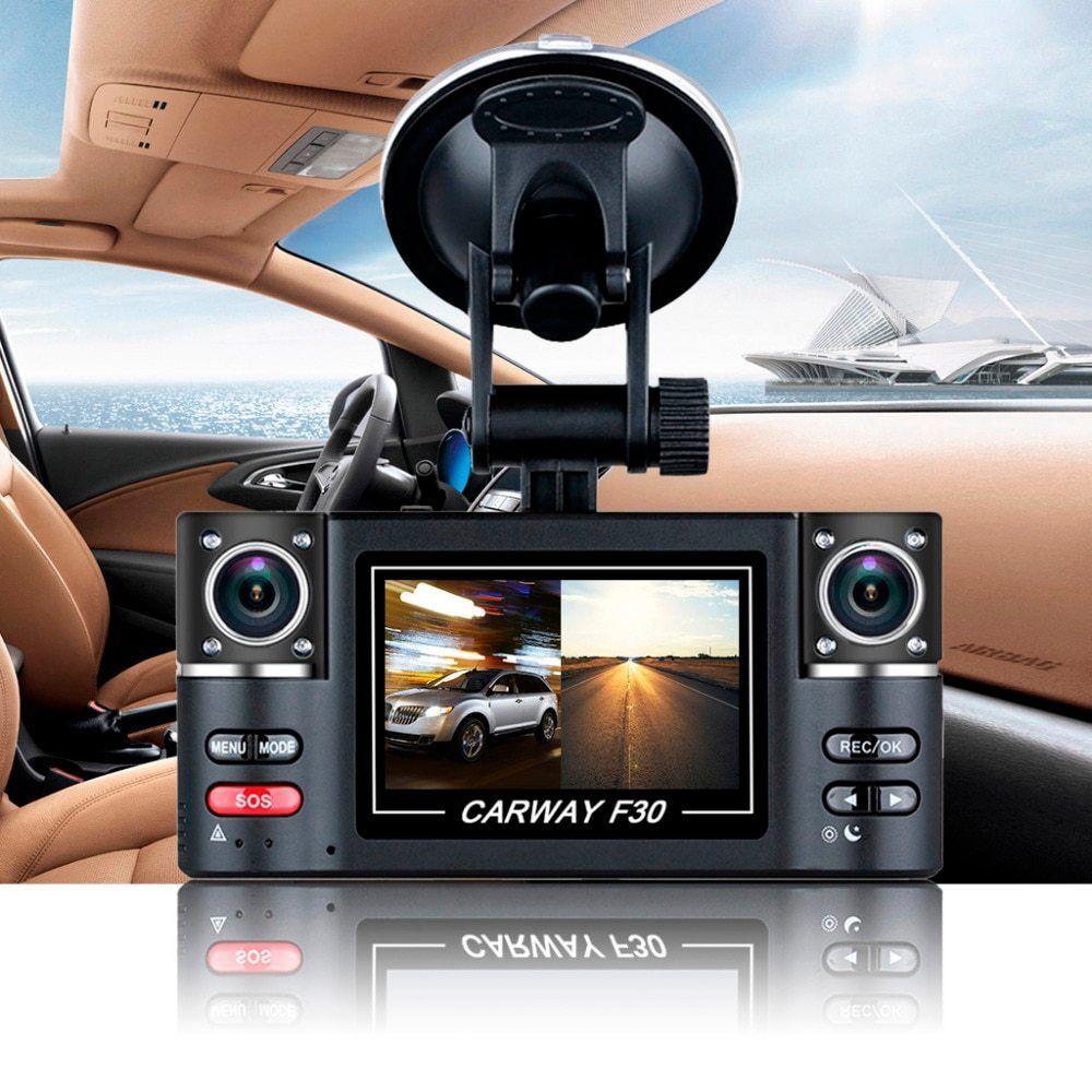 "2.7"" Dual Lens Car Vehicle 1080P HD Dash Camera DVR Cam"