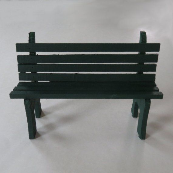 Admirable Forest Green Mini Wooden Bench Painted Miniature Bench Bralicious Painted Fabric Chair Ideas Braliciousco