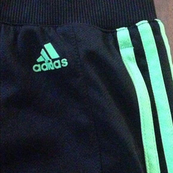 black and green adidas shorts