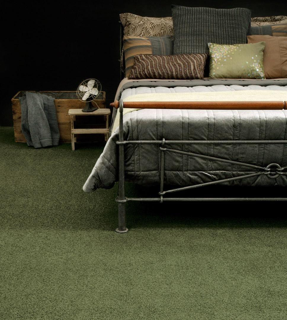 Mohawk Smartstrand Larkspur Sage Green Textured Plush