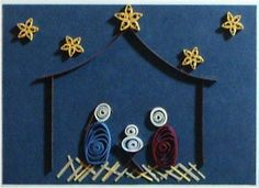 Quilled Nativity Simple Quilling Christmas Quilling Paper Craft Paper Quilling Patterns
