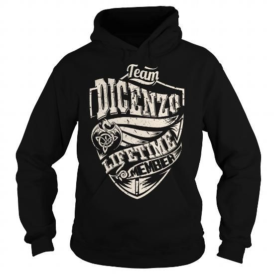Awesome Tee Team DICENZO Lifetime Member (Dragon) - Last Name, Surname T-Shirt T-Shirts