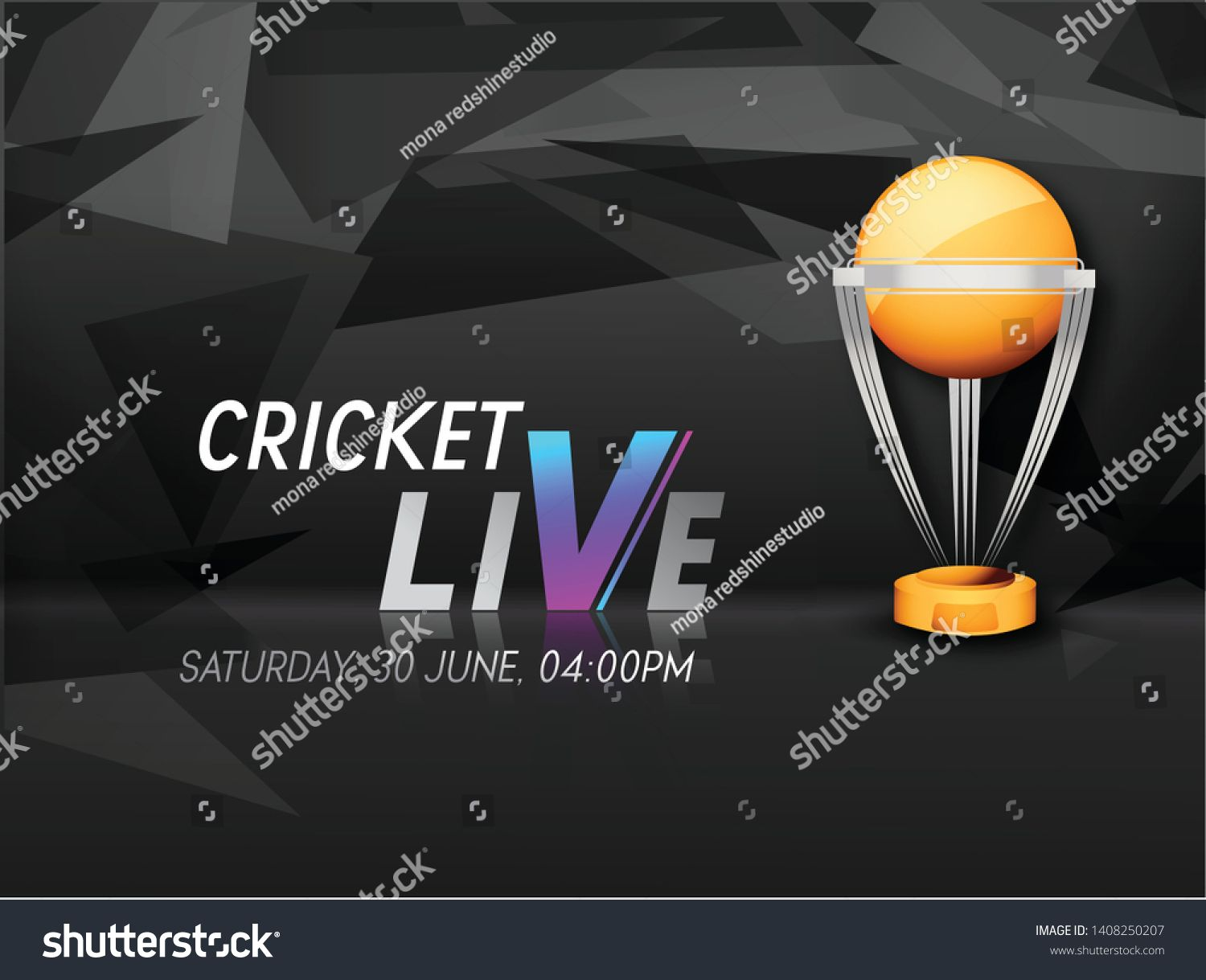 Illustration Of Cricket Live With World Cup Trophy Vector Ad Affiliate Live Cricket Illustration World World Cup Trophy Logo Gallery World Cup