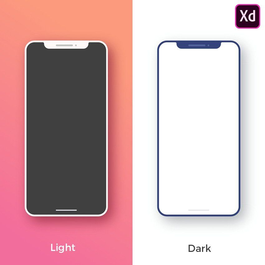 Download Iphone X Minimal Mockup Free Adobe Xd Freebiesui Iphone Iphone Mockup Free Light App