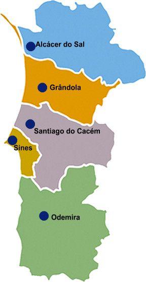 mapa litoral alentejo Litoral Alentejano Map | Portugal   Um mundo a descobrir! | Pinterest mapa litoral alentejo