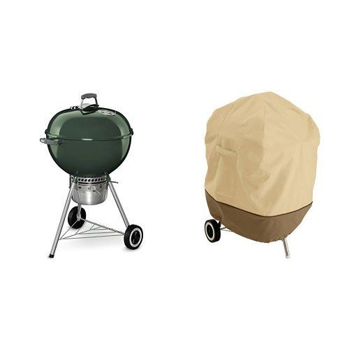 Weber 14407001 Original Kettle Premium Charcoal Grill 22inch Green With Classic Accessories Cover Charcoal Grill Built In Charcoal Grill Classic Accessories