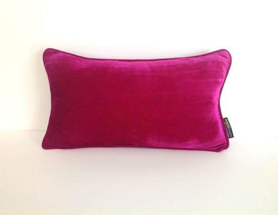 magenta pink throw velvet pillow cover