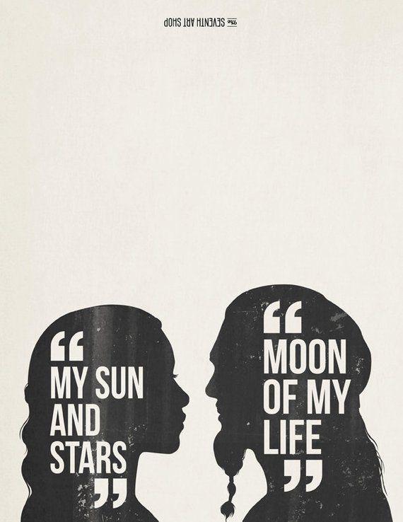Got Karte.Meine Sonne Und Sterne Zitieren Mond Meines Lebens Daenerys