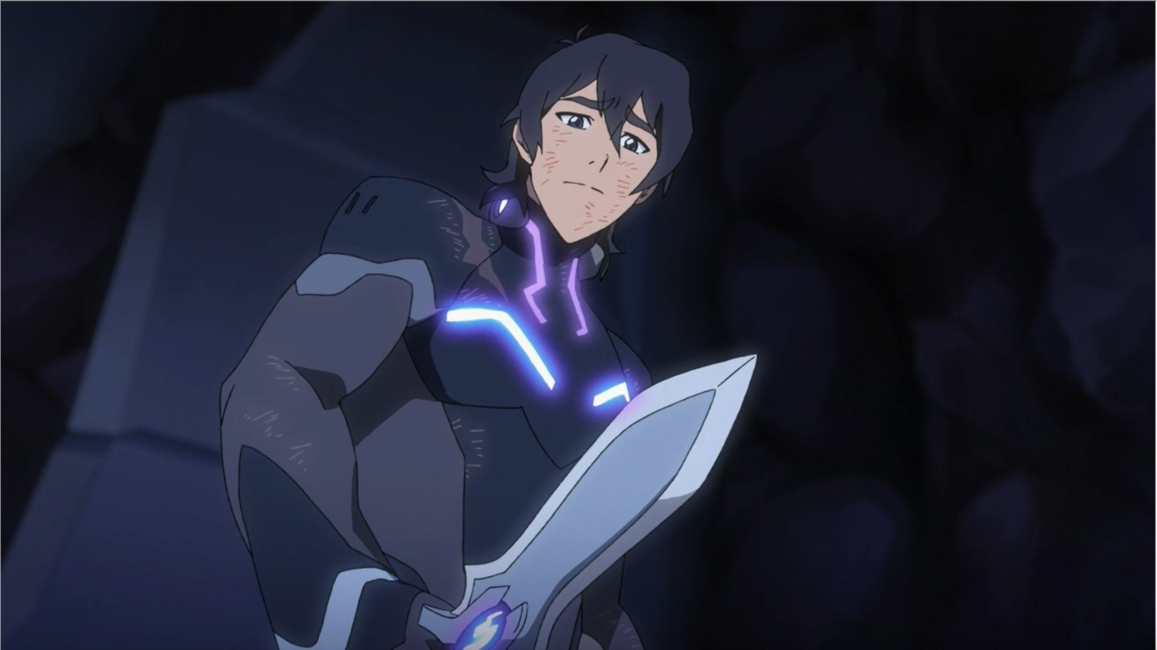 Keith looking at his dagger knife blade feeling regret of his keith looking at his dagger knife blade feeling regret of his choice from voltron legendary defender biocorpaavc