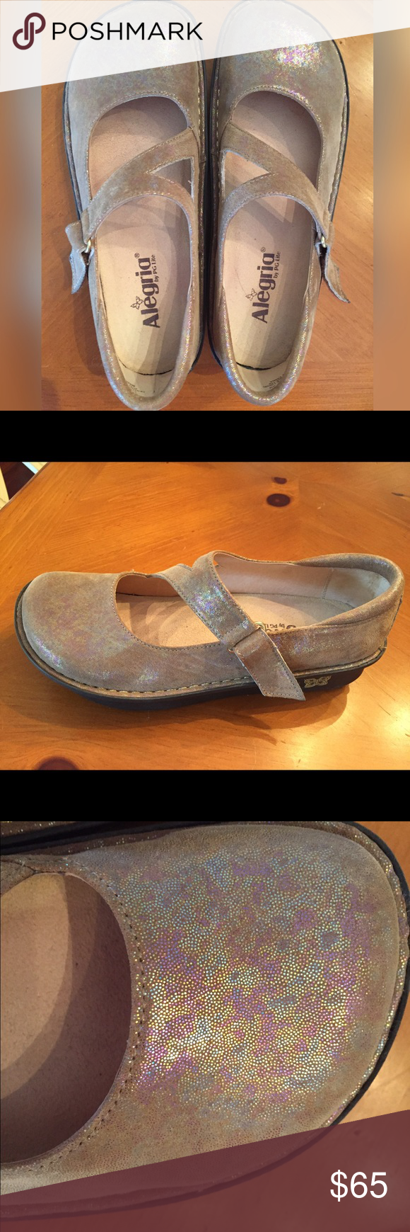 Allegria Shoes Gold Size 9 (39 European)   D, Gov't mule and Clogs