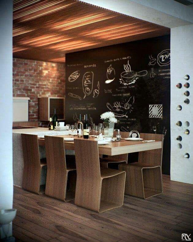 Mur ardoise cuisine top mur ardoise cuisine with mur - Mur ardoise cuisine ...