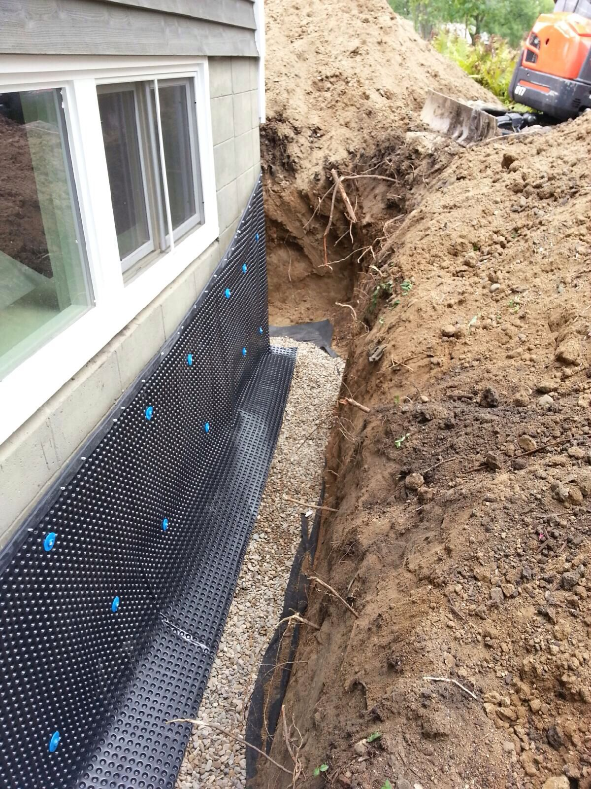 Affordable egress windows basement waterproofing llc for Basement curtain drain
