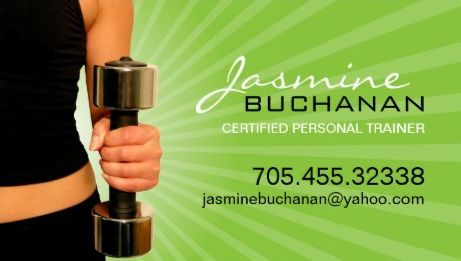 Professional green sunburst woman with dumbbell personal trainer professional green sunburst woman with dumbbell personal trainer business cards reheart Gallery