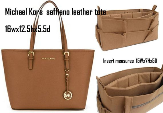 purse insert to fit michael kors bag 16 inches width bag organizer rh pinterest com