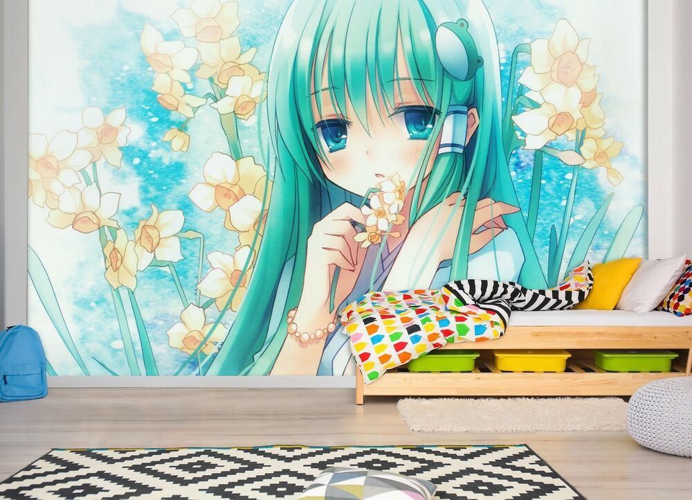 3d garden cute girl 44 japan anime game wallpaper mural