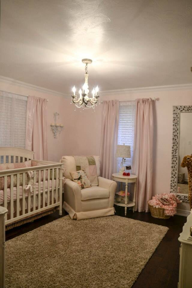 French country shabby chic nursery little girls room ...