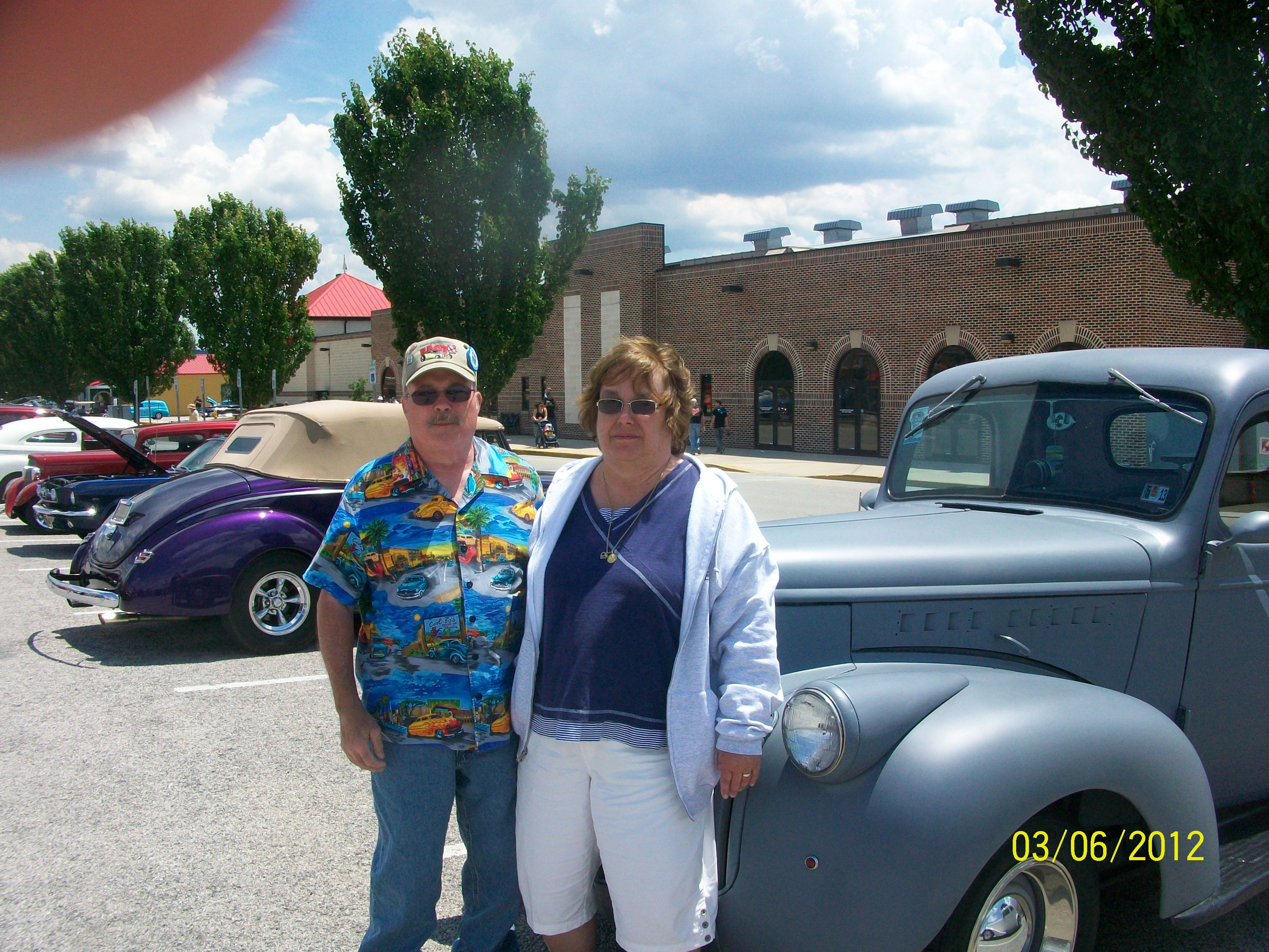 George And I Standing In Front Of Our Chevy PickUp At The NSRA - Car show york pa