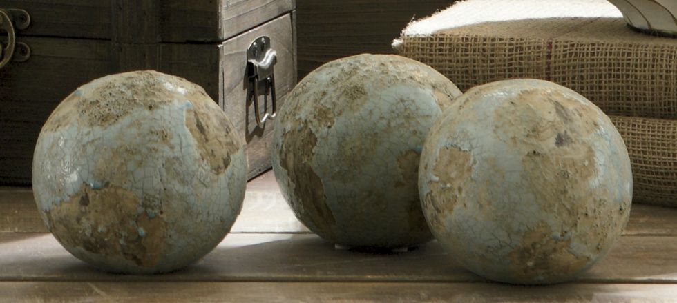 I like the resemblance to the earth in these spheres