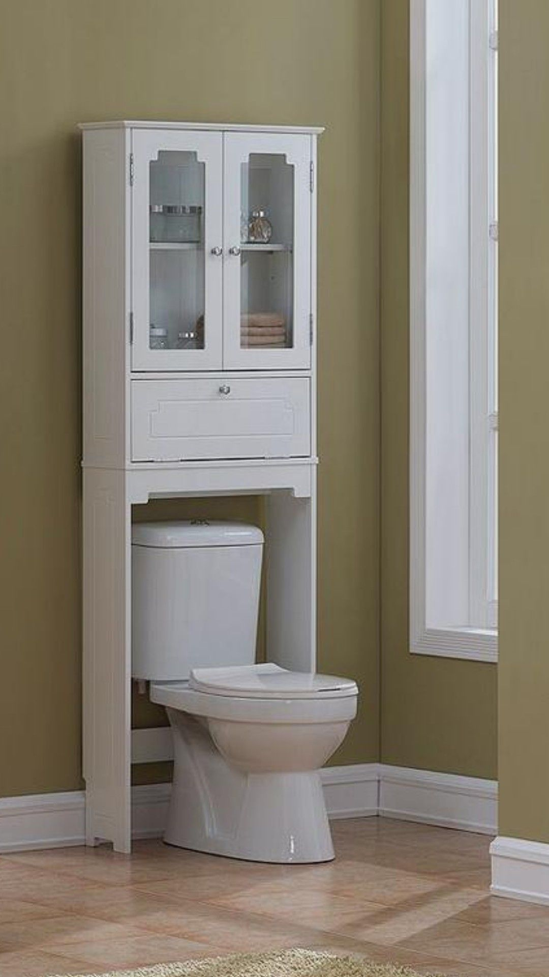 Square Tube Over The Toilet Etagere Brushed Nickel Threshold