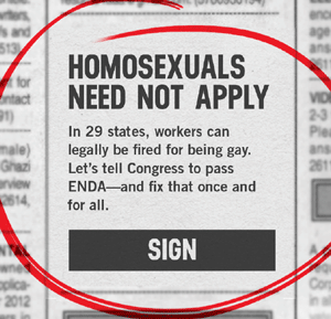 Homosexuality discrimination in the workplace