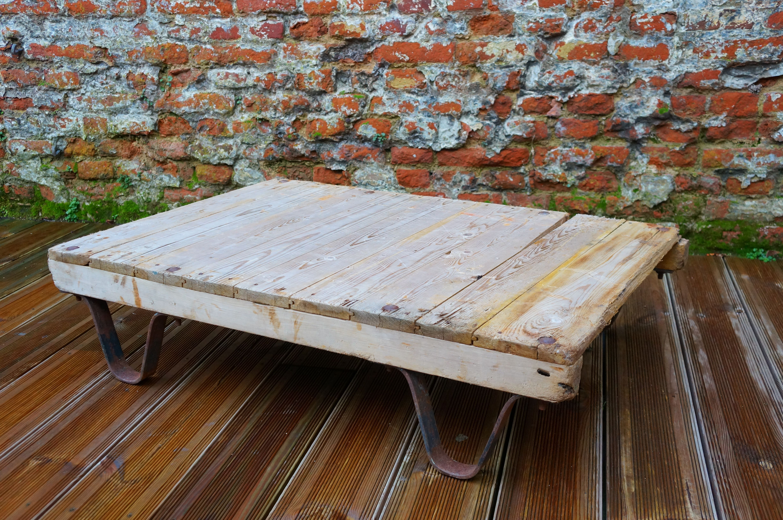 Table Basse Palette Industrielle En Vente Sur Le Site Www  # Table Basse Palette Industrielle